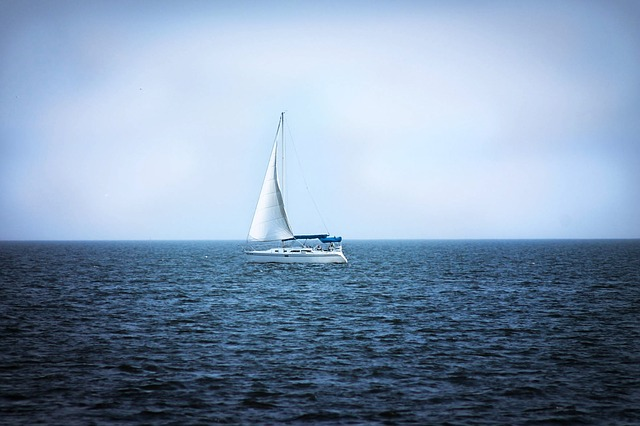 a sailboat on Lake Pontchartrain in New Orleans