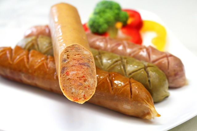 andouille sausage on a plate