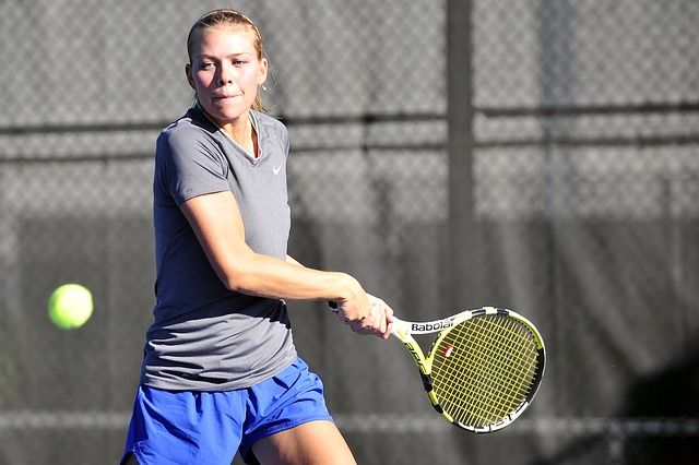 a person playing tennis