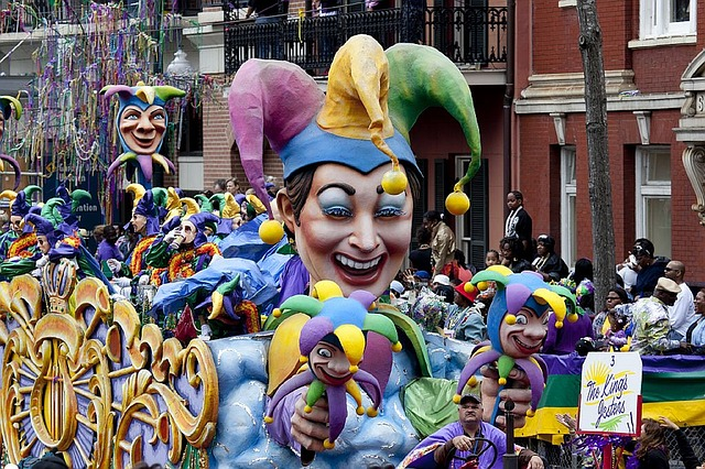 a parade float in New Orleans's Mardi Gras