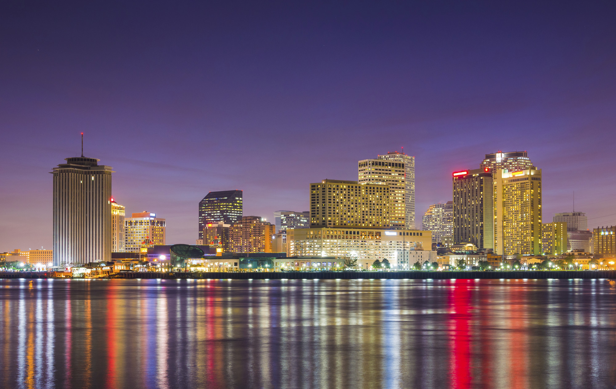 new orleans over the water